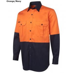 JBs Hi Vis 190G Shirt Long Sleeve